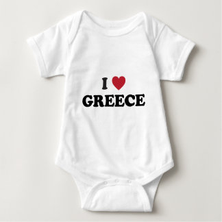 I Love Greece Baby Bodysuit