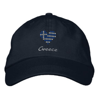I Love Greece Cap - Greek Heart Flag Hat