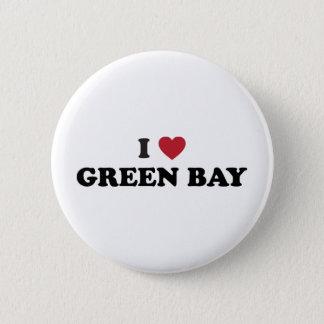 I Love Green Bay Wisconsin 2 Inch Round Button