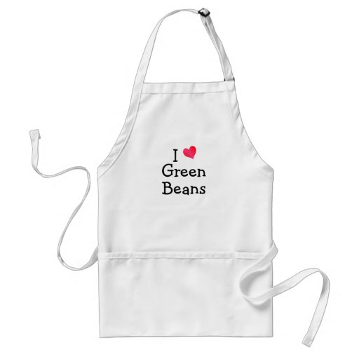 I Love Green Beans Apron
