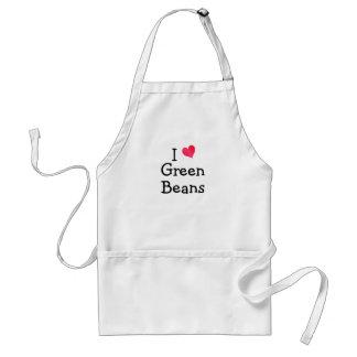 I Love Green Beans Standard Apron
