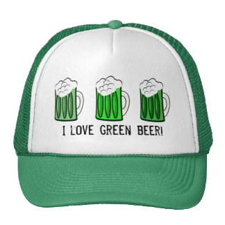 I love green beer hat