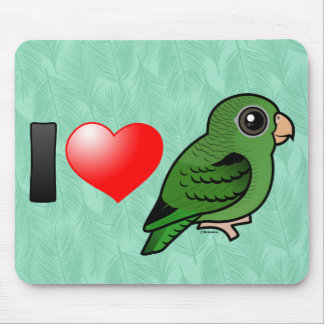 I Love Green Linnies Mouse Pad