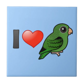 I Love Green Linnies Tile