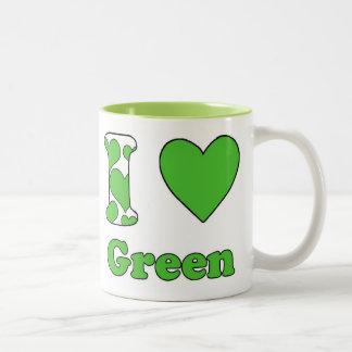 I love Green Two-Tone Coffee Mug