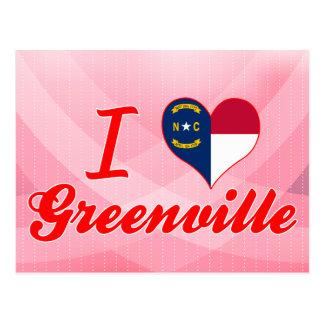 I Love Greenville, North Carolina Postcard