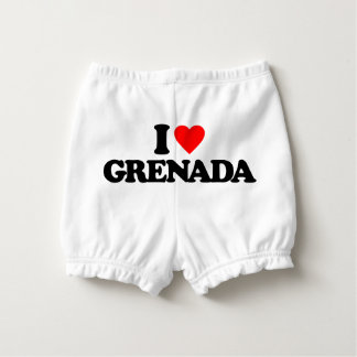 I LOVE GRENADA DIAPER COVER