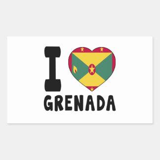 I Love Grenada Sticker
