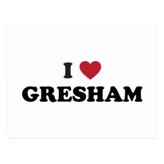 I Love Gresham Oregon Postcard