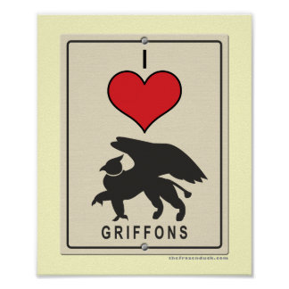I Love Griffons Poster