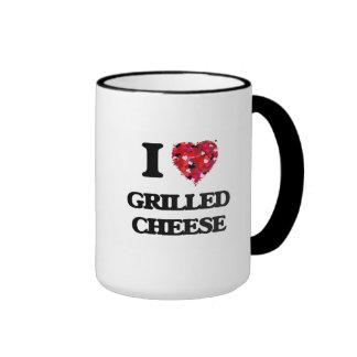 I Love Grilled Cheese food design Ringer Mug