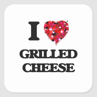 I Love Grilled Cheese food design Square Sticker