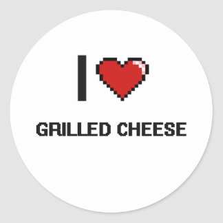 I Love Grilled Cheese Classic Round Sticker