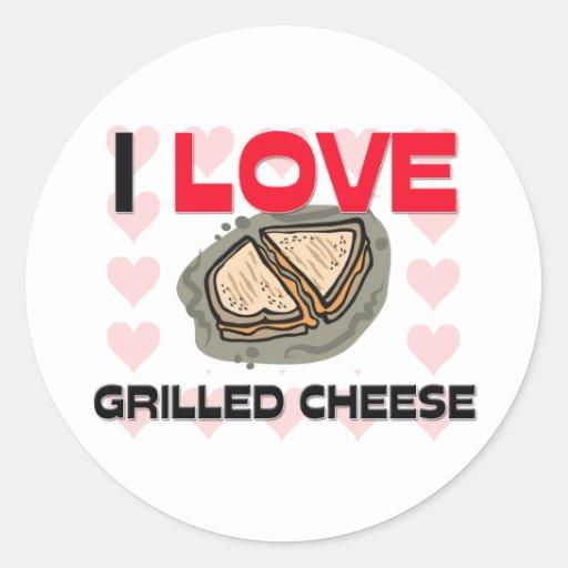 I Love Grilled Cheese Round Sticker