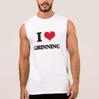 I love Grinning Sleeveless Shirt