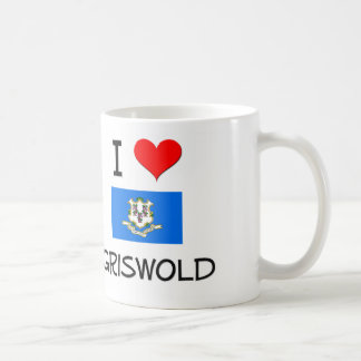I Love Griswold Connecticut Basic White Mug