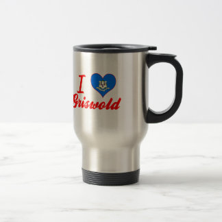 I Love Griswold, Connecticut Stainless Steel Travel Mug