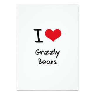 I Love Grizzly Bears Invite
