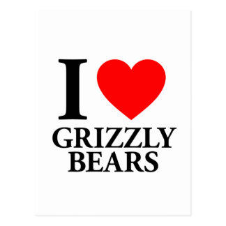 I Love Grizzly Bears Post Cards