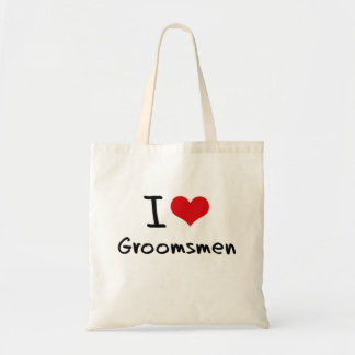 I Love Groomsmen Budget Tote Bag