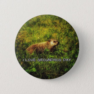 I love Groundhog Day button