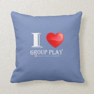 I Love group play pillow! Throw Pillow