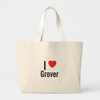 I love Grover Large Tote Bag