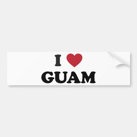 I Love Guam Bumper Sticker