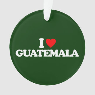 I LOVE GUATEMALA ORNAMENT