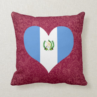 I Love Guatemala Throw Pillow