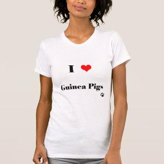 I Love Guinea Pigs T Shirt for Women