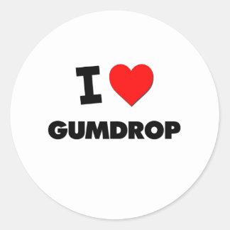 I Love Gumdrop Round Sticker