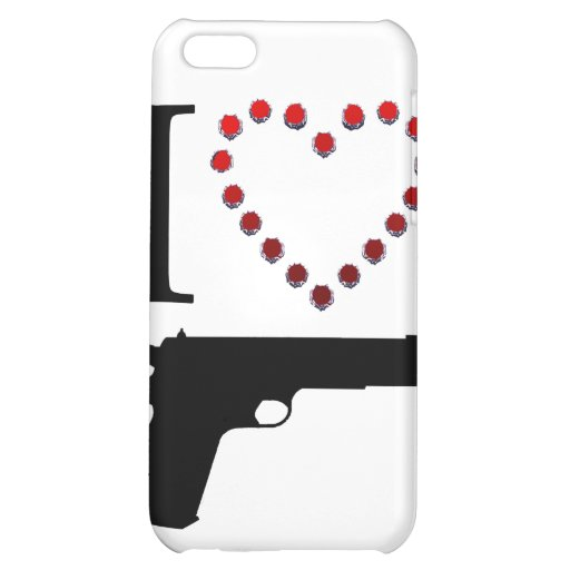 I LOVE GUN COVER FOR iPhone 5C