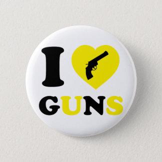 I Love Guns 2 Inch Round Button