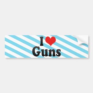 I Love Guns Bumper Stickers