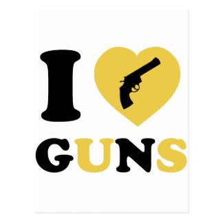 I Love Guns Postcard
