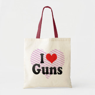 I Love Guns Tote Bag