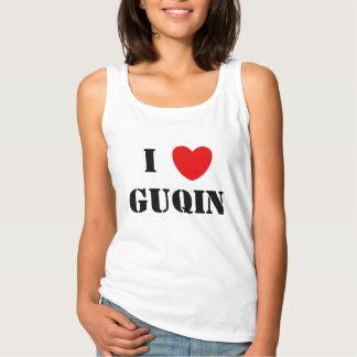 I Love Guqin Tank Top