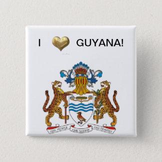 I Love Guyana 2 Inch Square Button