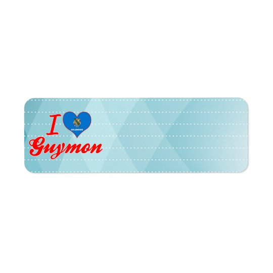 I Love Guymon, Oklahoma Return Address Label