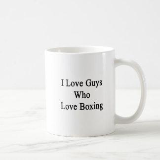 I Love Guys Who Love Boxing Basic White Mug