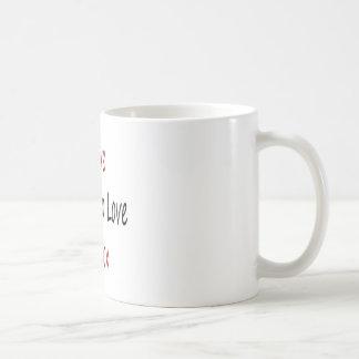 I Love Guys Who Love To Box Basic White Mug