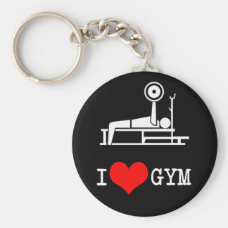 I Love GYM Keychain