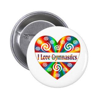 I Love Gymnastics 2 Inch Round Button