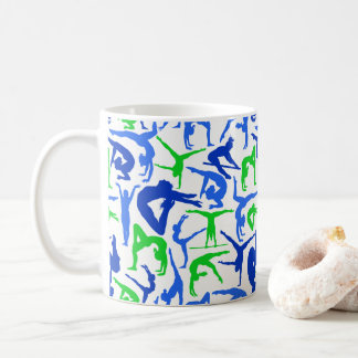 I LOVE Gymnastics Coffee Mug Blue & Green