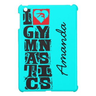 I Love Gymnastics Hunter Personalized iPad Mini Case