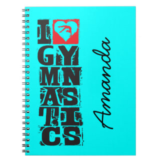 I Love Gymnastics Hunter Personalized Notebook