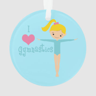 I Love Gymnastics Ornament