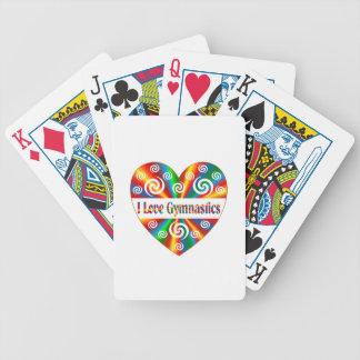 I Love Gymnastics Poker Deck