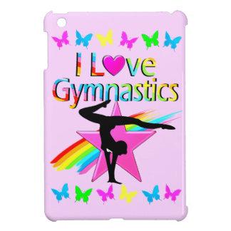 I LOVE GYMNASTICS RAINBOW GYMNAST GIRL DESIGN iPad MINI CASES
